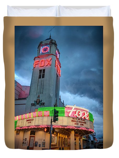 Movie Theater Tribute To Merle Haggard Duvet Cover