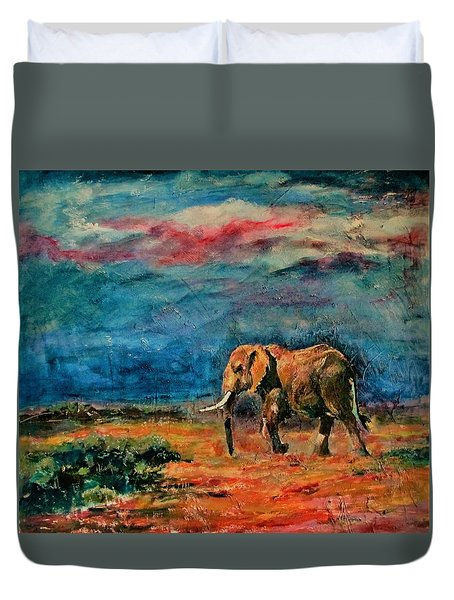 Moving Away Duvet Cover by Khalid Saeed