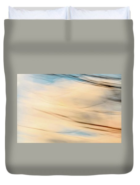Moving Branches Moving Clouds Duvet Cover