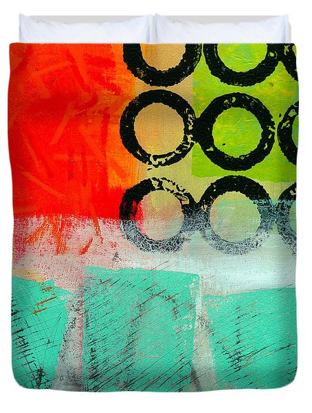 Moving Through 11 Duvet Cover by Jane Davies