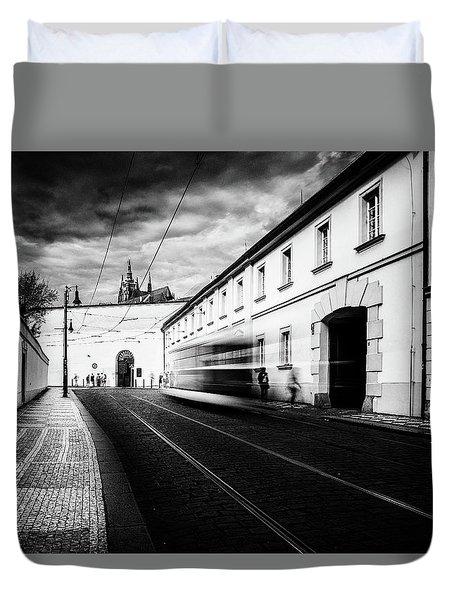 Street Tram Duvet Cover