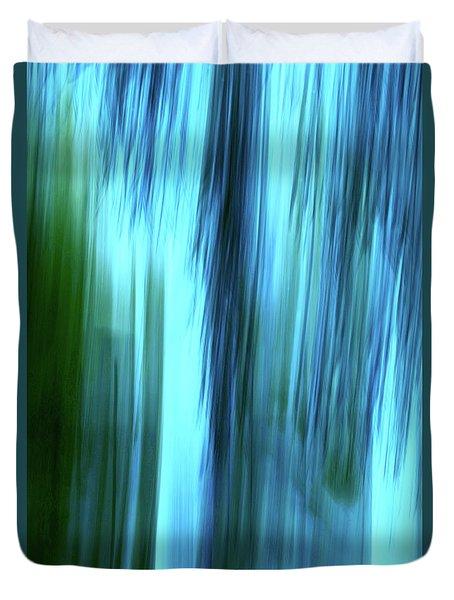 Moving Trees 37-15portrait Format Duvet Cover