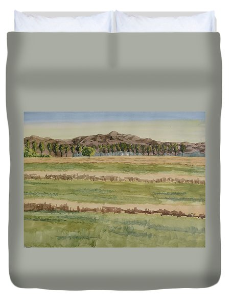 Mown Hay Duvet Cover by Bethany Lee