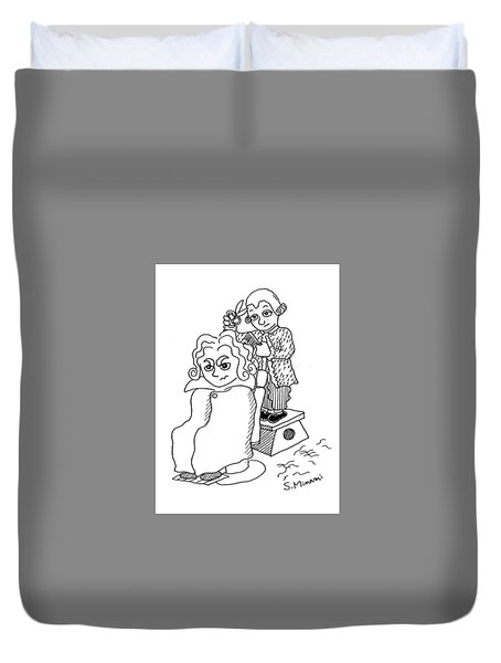 Mozart And Beethoven Duvet Cover