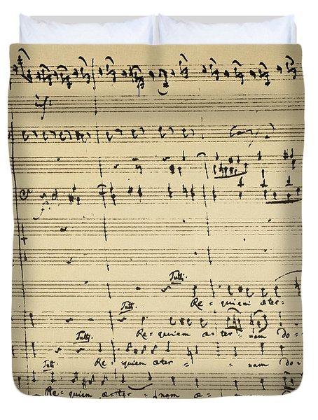 Mozart: Requiem Excerpt Duvet Cover
