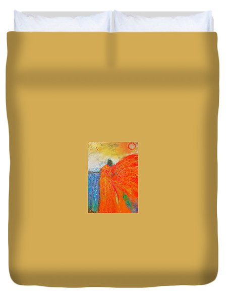 Mprints - Angel Of The Morning Duvet Cover by M Stuart