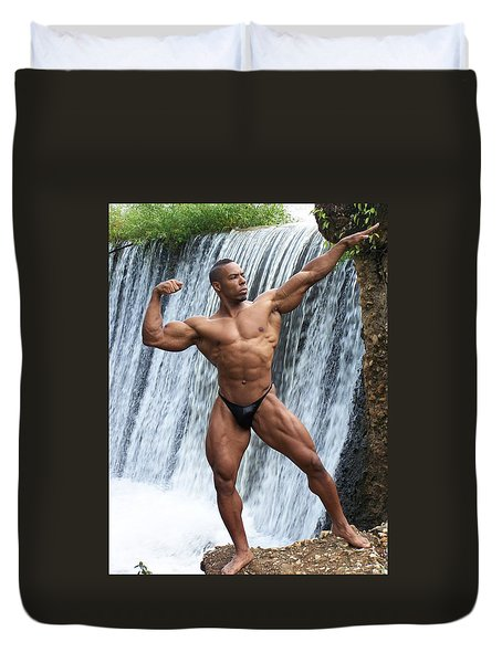 Duvet Cover featuring the photograph Mr America by Jake Hartz