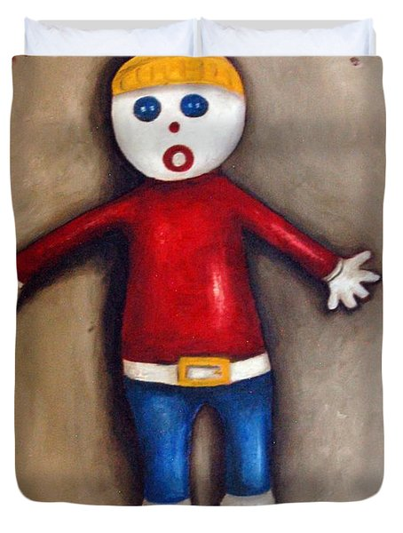 Mr. Bill Duvet Cover by Leah Saulnier The Painting Maniac
