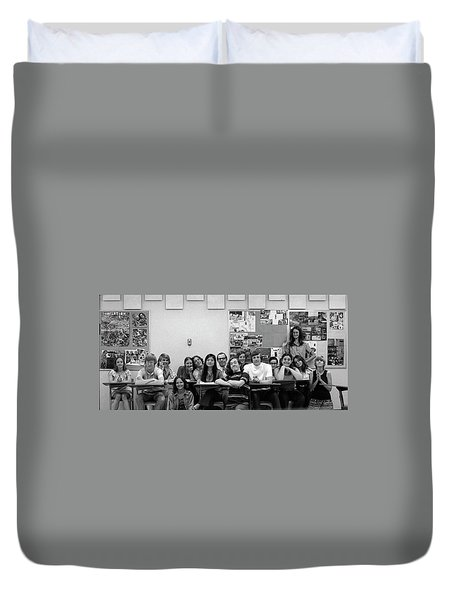 Mr Clay's Ap English Class - Cropped Duvet Cover