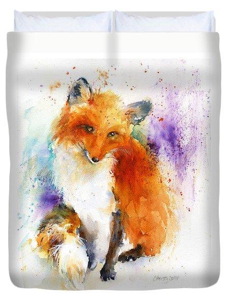 Mr. Fox Duvet Cover by Christy Lemp