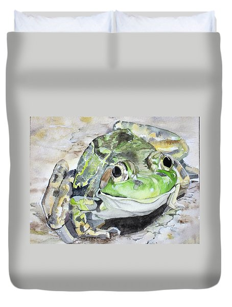 Mr Frog  Duvet Cover