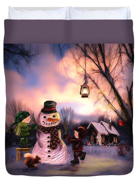 Mr. Frosty Duvet Cover