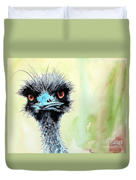 Mr. Grumpy Duvet Cover by Tom Riggs