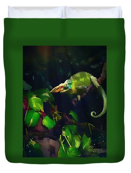 Mr. H.c. Chameleon Esquire Duvet Cover