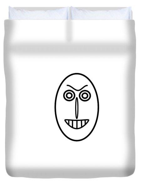 Mr Mf Has A False Smile Duvet Cover
