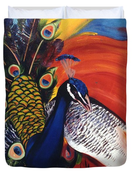 Mr Peacock Duvet Cover