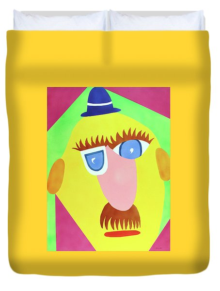 Duvet Cover featuring the painting Mr. Strangefellow by Thomas Blood