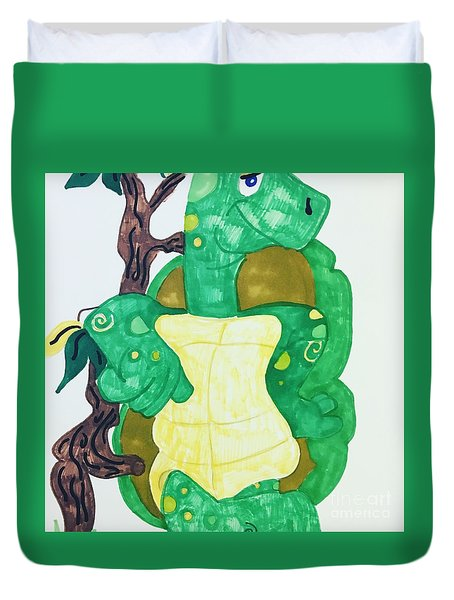Mr. Turtle  Duvet Cover