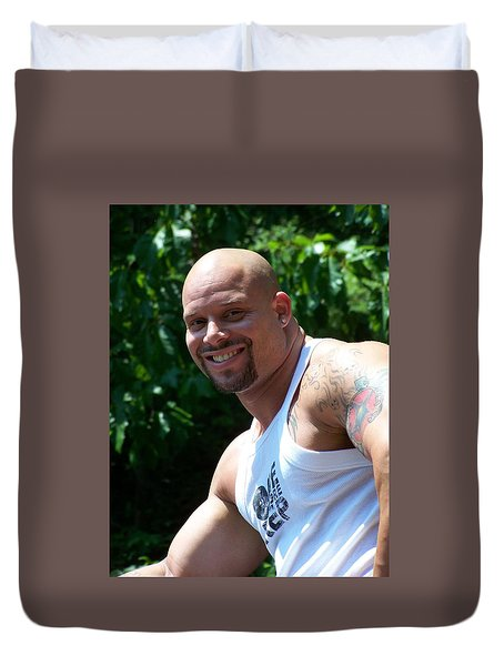 Duvet Cover featuring the photograph Mr Wonderful by Jake Hartz
