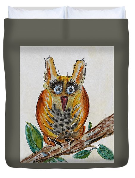 Mr.orange Owl Duvet Cover