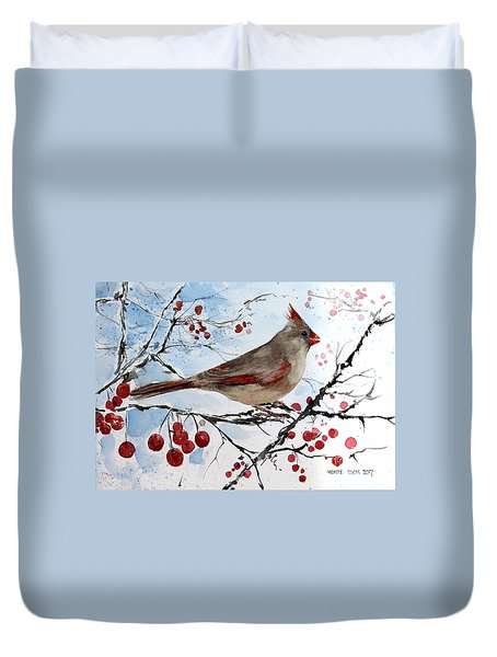 Mrs Red Bird The Visit Duvet Cover
