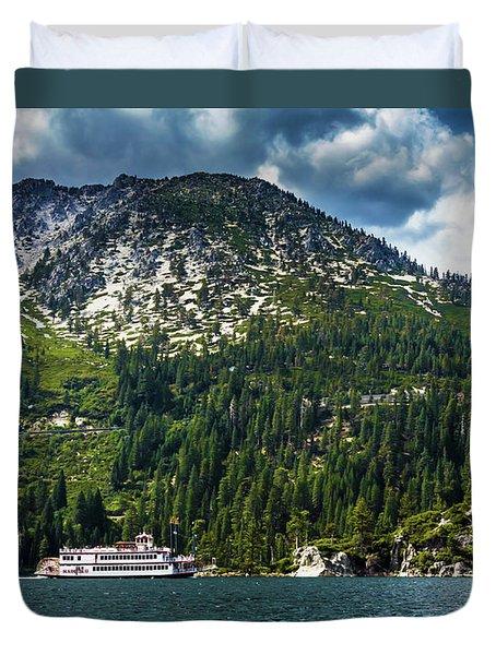 M.s. Dixie II, Lake Tahoe, Ca Duvet Cover
