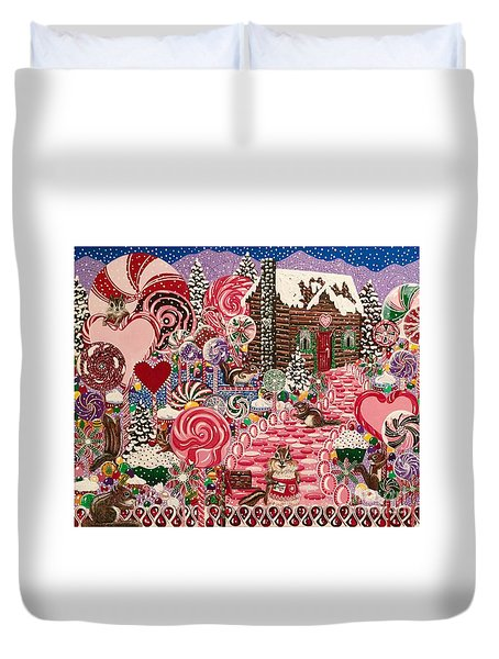 Ms. Elizabeth Peppermint World Duvet Cover
