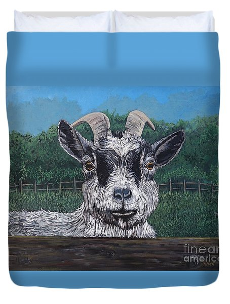 Ms Frisky  Duvet Cover by Reb Frost