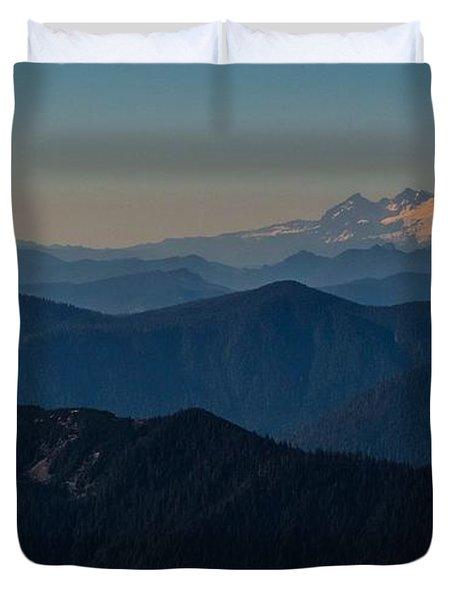 Mt. Baker From Mt. Pilchuck Duvet Cover