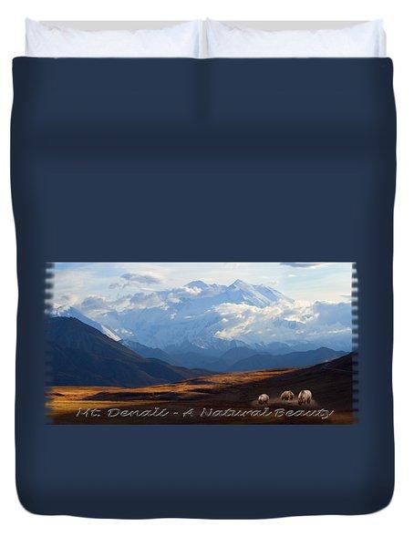 Mt. Denali National Park Duvet Cover
