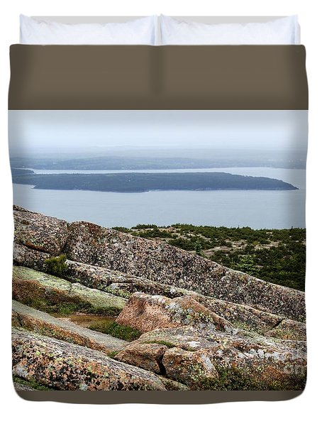 Mt. Destert Island View Duvet Cover