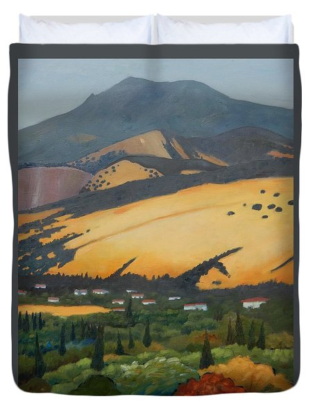 Mt. Diablo Above Duvet Cover by Gary Coleman