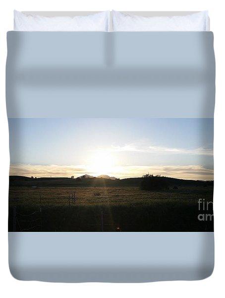 Mt. Diablo Sunset Duvet Cover