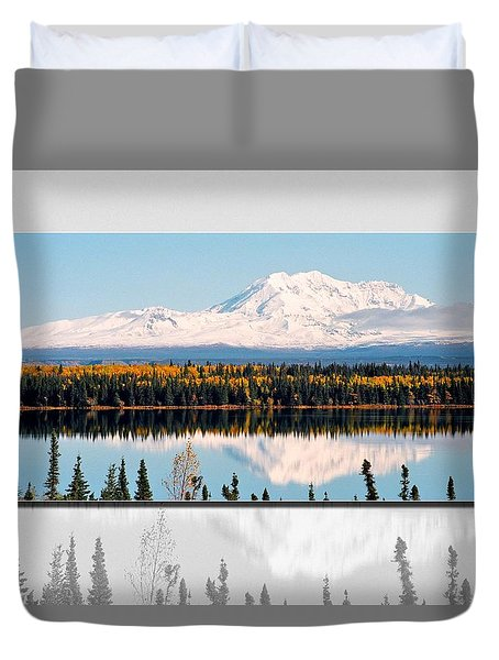 Duvet Cover featuring the photograph Mt. Drum - Alaska by Juergen Weiss