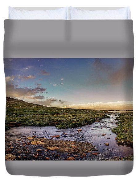 Duvet Cover featuring the photograph Mt. Evans Alpine Stream by Chris Bordeleau
