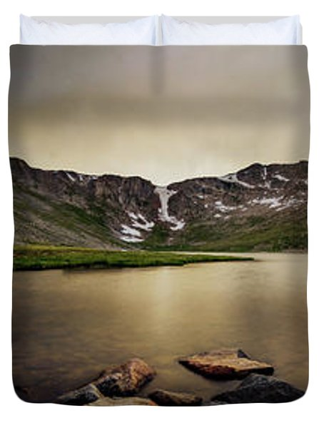 Mt. Evans Summit Lake Duvet Cover