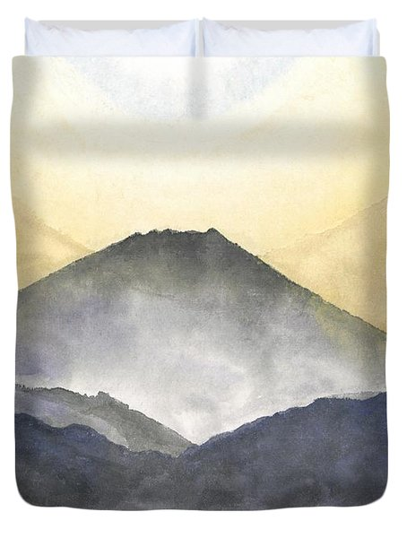 Mt. Fuji At Sunrise Duvet Cover