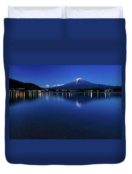 Mt Fuji - Blue Hour Duvet Cover