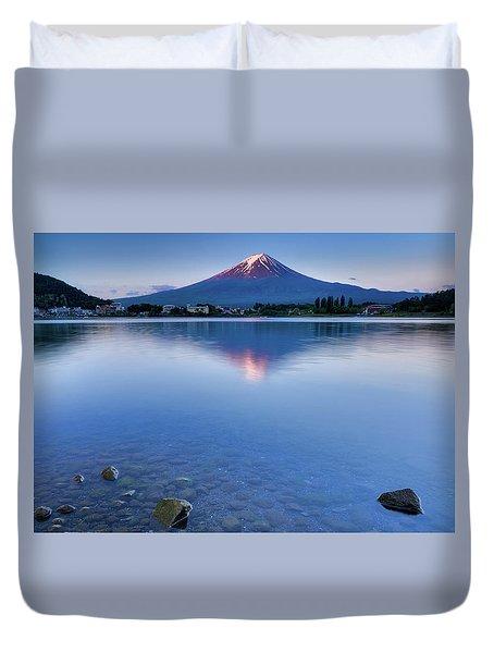 Mt Fuji - First Light Duvet Cover