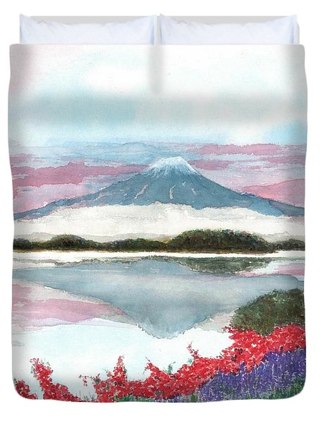 Mt. Fuji Morning Duvet Cover