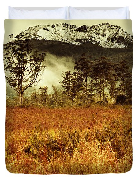 Mt Gell. Tasmania National Park Of Franklin Gordon Duvet Cover