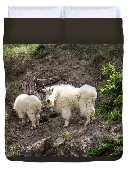 Mt Goat Outing Duvet Cover