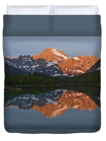 Duvet Cover featuring the photograph Mt. Gould by Gary Lengyel