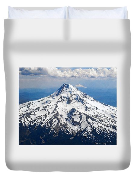 Mt. Hood From 10,000 Feet Duvet Cover