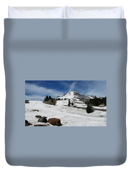 Mt. Hood In June Duvet Cover