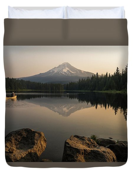 Mt Hood Sunrise  Duvet Cover