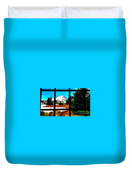 Mt. Hood View Duvet Cover
