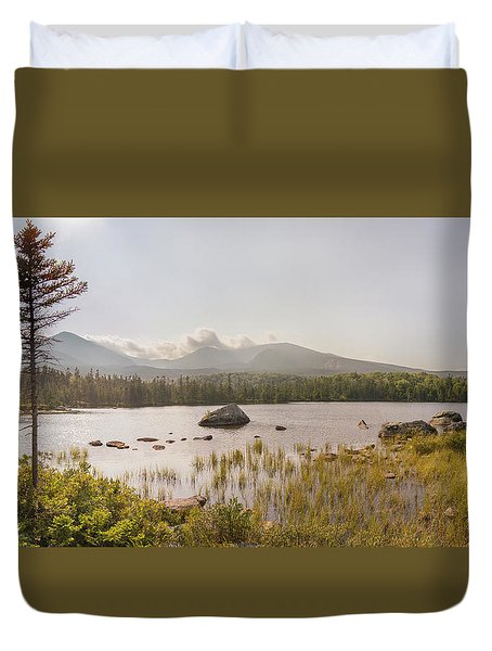 Duvet Cover featuring the photograph Mt Katahdin Pano by Peter J Sucy