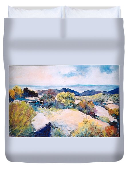 Duvet Cover featuring the painting Mt Lemmon View by M Diane Bonaparte