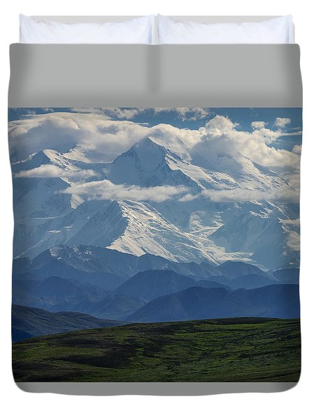 Duvet Cover featuring the photograph Denali by Gary Lengyel